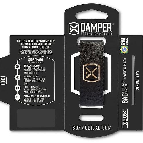 DAMPER de eco cuero con logo metálico NEGRO DSMD02