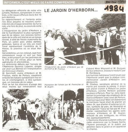 15 eme  anniversaire du jumelage Petuis Herborn