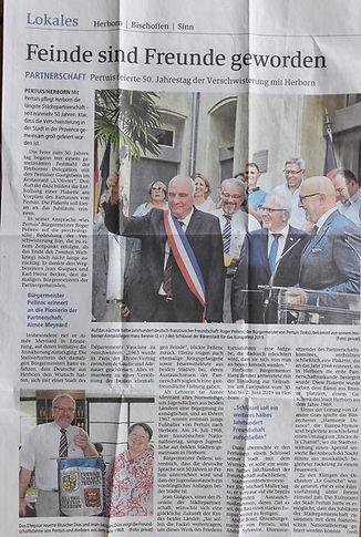 14-07-2018 50 eme anniversaire du jumelage Pertuis herborn