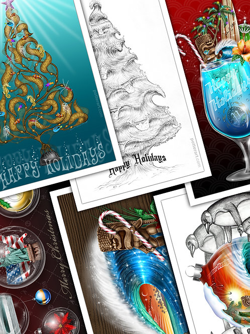 6 Pack Assorted Christmas Cards