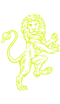 heraldic lion drawing vector yellow.PNG