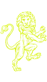heraldic lion drawing vector yellow.PNG