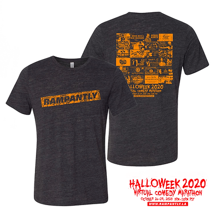 halloweek shirt with logo front back.PNG