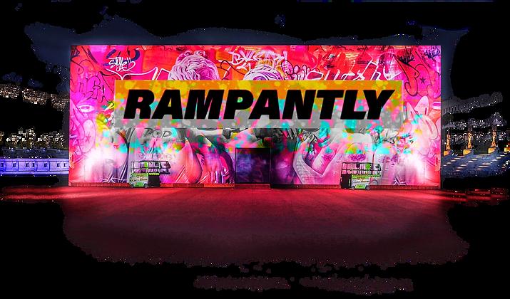 Rampantly pink graffiti building cut out