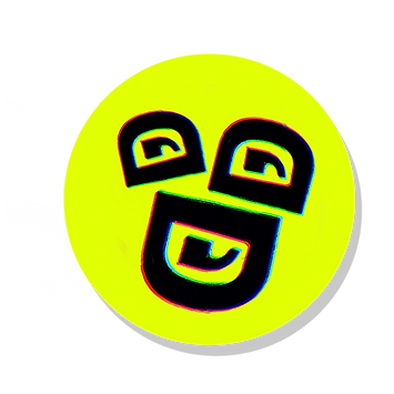 Laugh Rampantly Comedy Button Logo .PNG