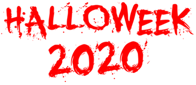 Halloweek 2020 Graphic text logo Red .pn