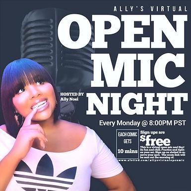 Ally's Virtual Open Mic