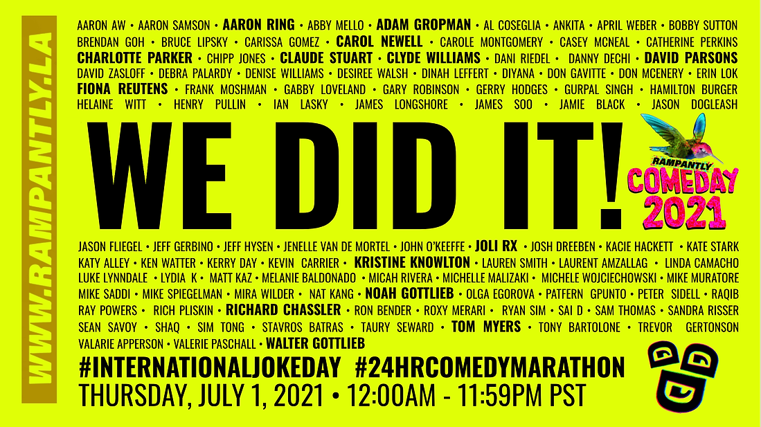 We did it! Comeday 2021 banner rampantly.png