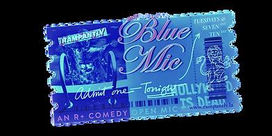 blue mic goes green dani ticket blue mic kristine rampantly comedy.png