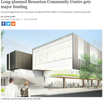 Additional funding for planned Bessarion Community Centre