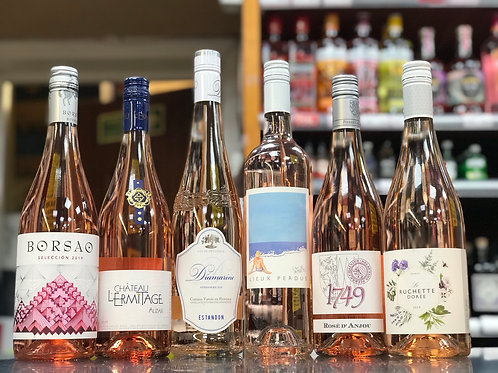Six bottles of rose' wines 75cl