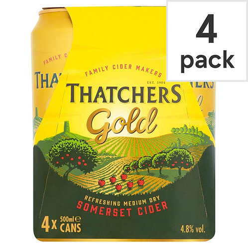 Thatchers Gold Cans 4x440ml