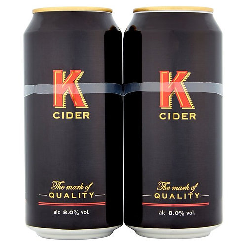 K Cider Cans 4x500ml