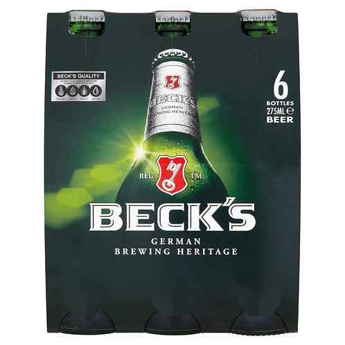 Becks bottles 6x275ml