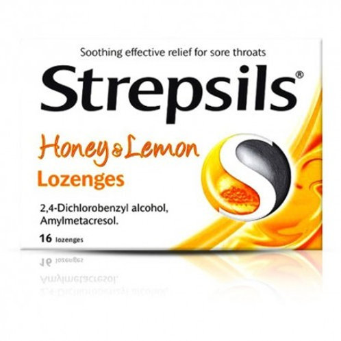 Strepsils Honey & Lemon 16's