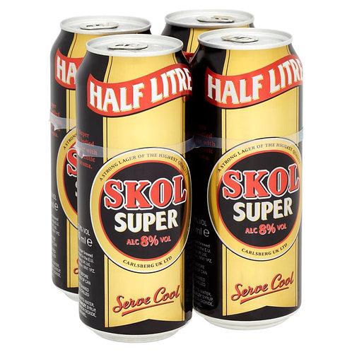 Skol Super Cans 4x500ml