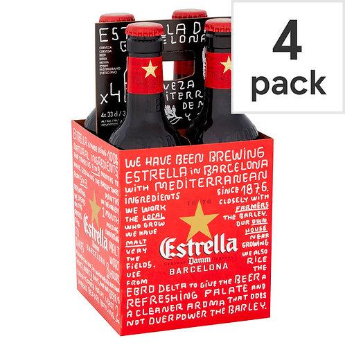 Estrella bottle 4x33cl