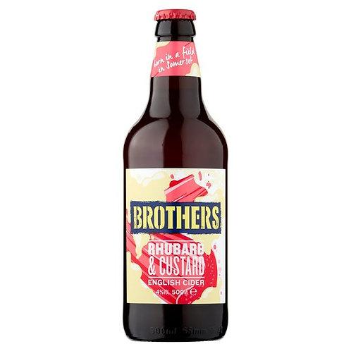 Brothers Rhubarb & Custard Cider 500ml