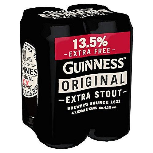 Guiness Original Cans 4x500ml