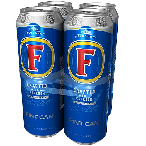 Fosters Pint Cans 4x568ml