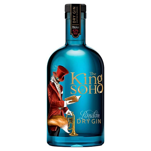 The King Soho Dry Gin 70cl