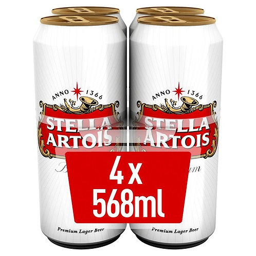 Stella Pint Cans 4x568ml