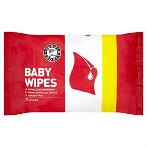 Euro Shopper Baby Wipes 64's
