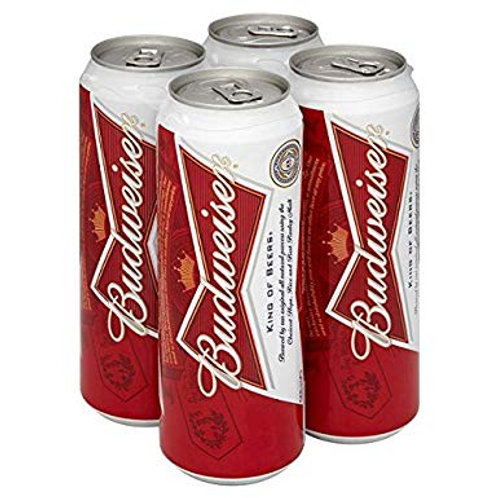 Budweiser Pint Cans 4x568ml