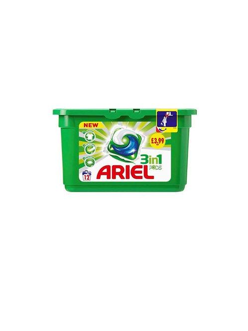Ariel 3 in 1 Tab Pods 12's