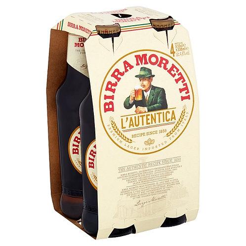Birra Moretti bottles 4x33cl