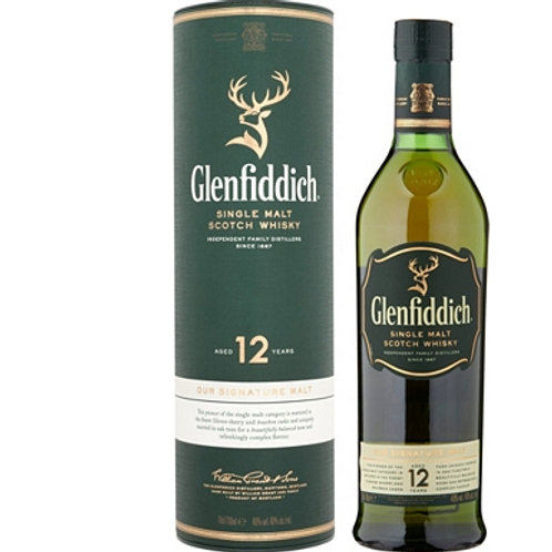 Glenfiddich 12 Yrs Old Whiskey 70cl