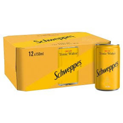 Schweppes Tonic Water Can 150ml x12 Pack
