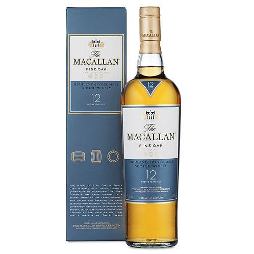 Macallan 12yr Fine Oak Whiskey 70cl (v7545)