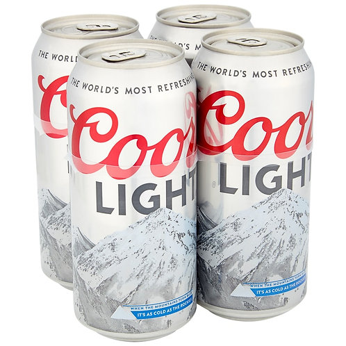 Coors Light Cans 4x500ml
