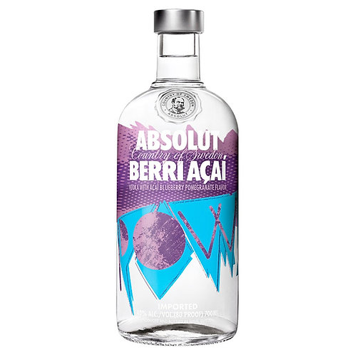 Absolut Berry Acai Vodka 70cl (5411)