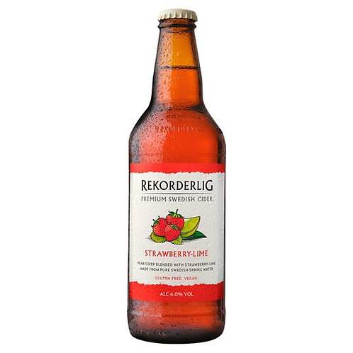 Rekorderlig Strwaberry & Lime bottle 500ml