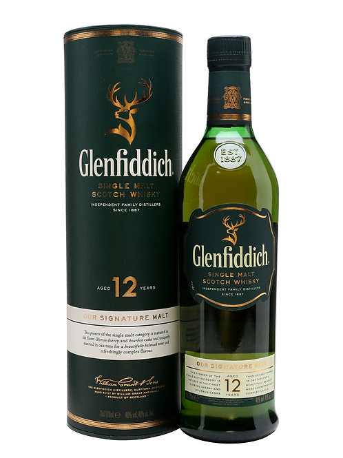 Glenfiddich 12yr Whisky 70cl (v100919)