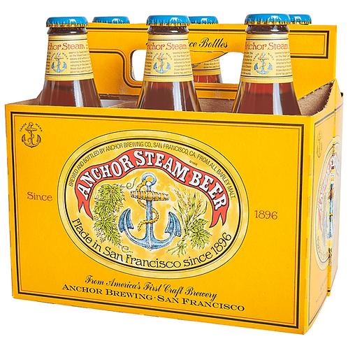 Anchor Steam Beer bottles 6x355ml