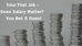 Does Your First Salary Matter?