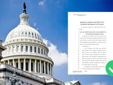 API Welcomes Passage of Sherman Amendment #28 to FY22 NDAA