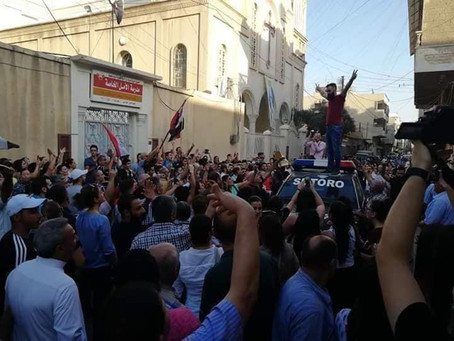 Assyrians in Syria Protest PYD's Closure of Schools in Qamishli