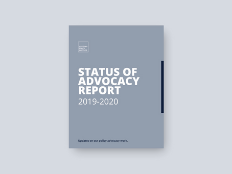 API Publishes Biennial 'Status of Advocacy Report' 2019-2020