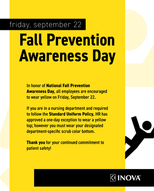 Fall Prevention Awareness Day Poster