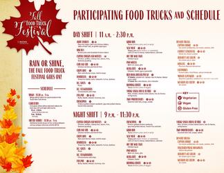 Fall Food Truck Festival Schedule 2019