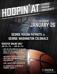 Hoopin' at George Mason Poster
