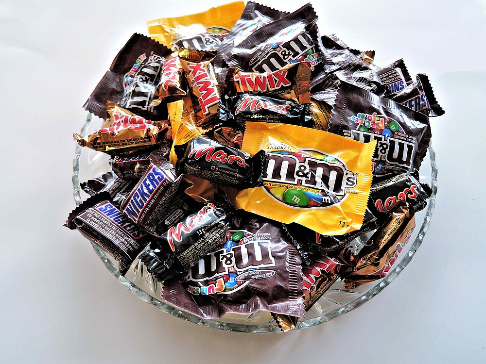 Bowl of Halloween sweets