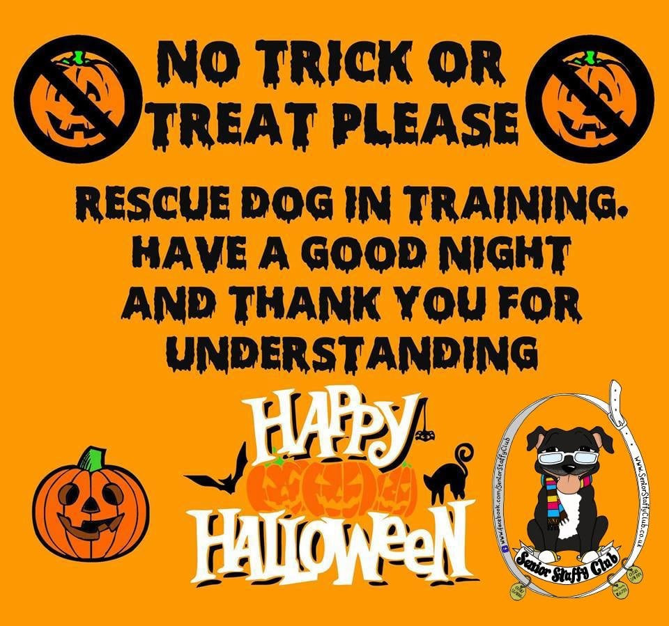 No trick or treat please sign