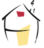 Logo de La Maison de Toronto de couleur rouge, Histoire vraie du parcours d'une résidente. Petite image de coeur au dessus du témoignage