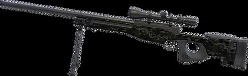 L96 Black Multicam Skin