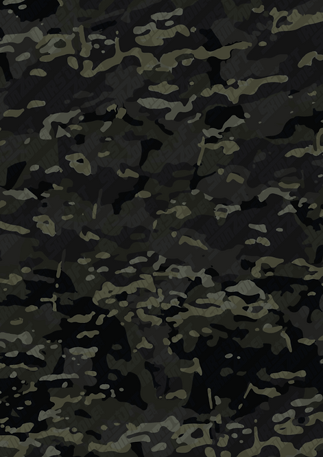 Sticker Black Multicam